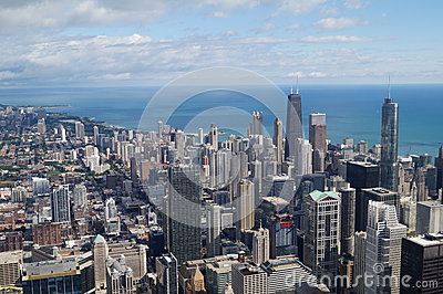 Chicago and Lake Editorial Stock Photo