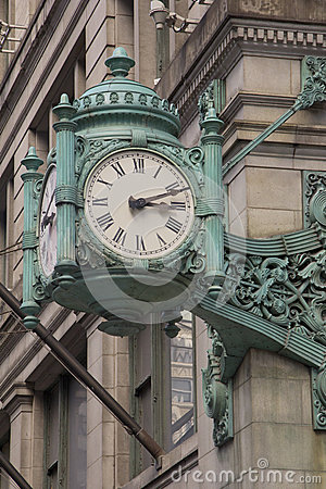 Chicago Landmark clock in