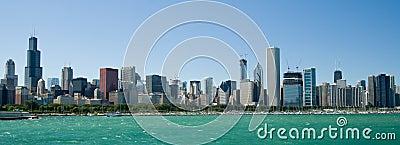 Chicago linia horyzontu Illinois