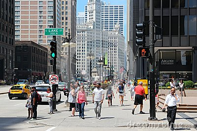 Chicago - Michigan Avenue Editorial Stock Photo
