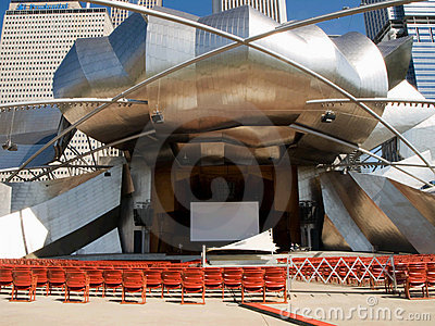 Chicago Millenium Park, Jay Pritzker Pavilion Editorial Photography