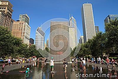 Chicago Millennium Park Editorial Stock Image