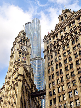Free Chicago Mixed Architecture Royalty Free Stock Photography - 16536217