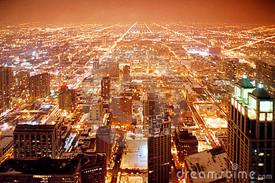 Chicago city at night