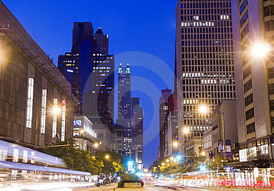 Chicago At Night Royalty Free Stock Images - Image: 17140379