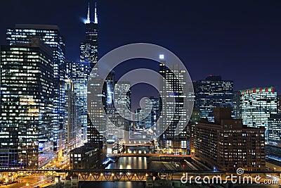 Chicago at night.
