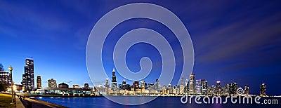 Chicago panoramic at night
