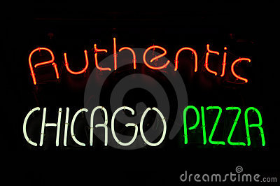 Chicago Pizza Neon Sign