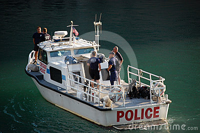 Chicago Police Department Marine Unit Patrolling Editorial Photo