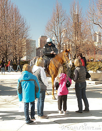 Free Chicago Police On Horse - II Royalty Free Stock Photo - 23467955
