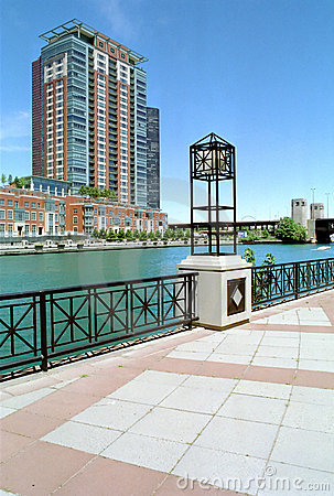 Chicago River and Canal Illinois USA