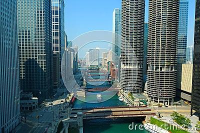 Chicago river scene