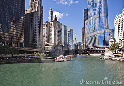 Chicago Riverboat Tour of the City Editorial Image
