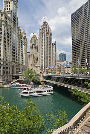 Chicago Riverboat Tours Editorial Photography