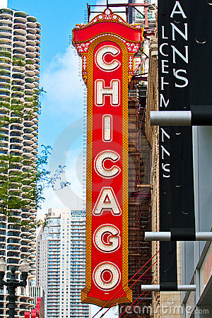 Chicago Sign Editorial Photography