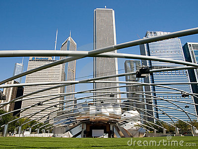 Chicago sójki milenium parka pawilonu pritzker Obraz Stock Editorial
