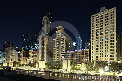 Chicago skyline Editorial Stock Image