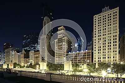 Chicago skyline Editorial Stock Image