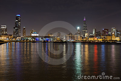 Chicago Skyline Stock Image - Image: 21932401