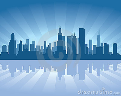 Chicago Skyline Stock Photo - Image: 22430780