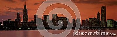 Chicago skyline Editorial Photo