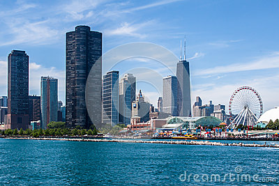 Chicago Skyline Editorial Stock Photo