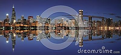 Chicago skyline panoramic
