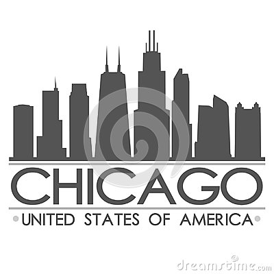 Free Chicago Skyline Silhouette Design City Vector Art Stock Photo - 99516030