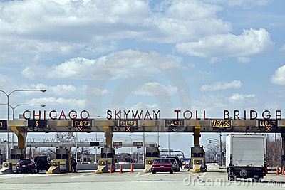 Chicago Skyway Toll Bridge Editorial Photo