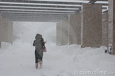 Chicago Storm -- Students at IIT Editorial Photography