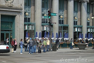 Chicago Street Corner Editorial Image