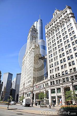 Chicago Street Scene Editorial Stock Image