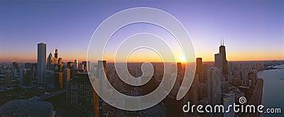 Chicago Sunset Editorial Photo