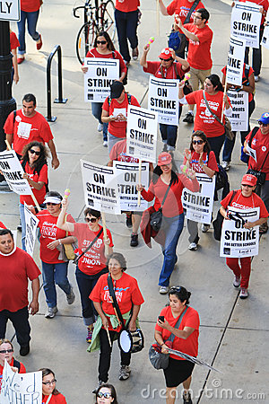 Chicago Teachers Strike 2012 Editorial Stock Photo