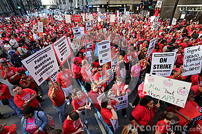 Chicago Teachers Strike 2012 Editorial Image