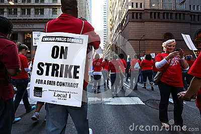 Chicago Teachers Strike 2012 Editorial Photo