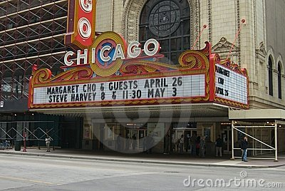 Chicago Theater Editorial Stock Photo