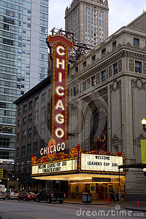 Chicago Theater Editorial Stock Image