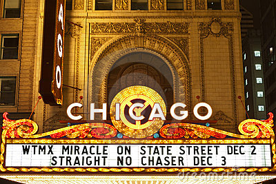 Chicago theater. Editorial Stock Photo