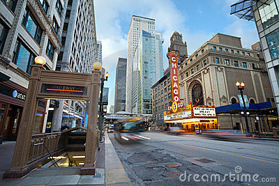 Chicago theater. Editorial Photography