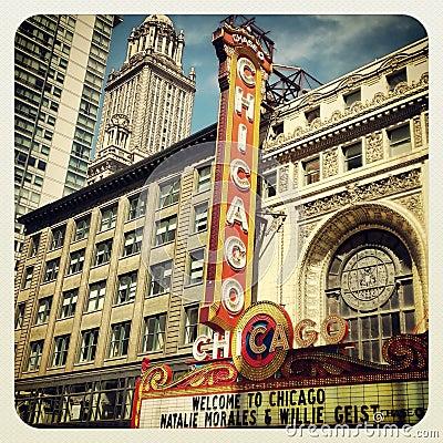 Chicago Theatre Editorial Photo