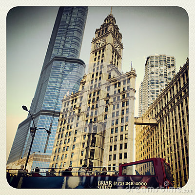 Chicago tourist bus tour Editorial Photography