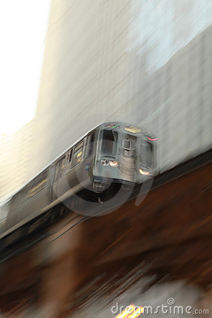 Chicago Train In motion