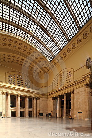Chicago Union station Editorial Stock Image