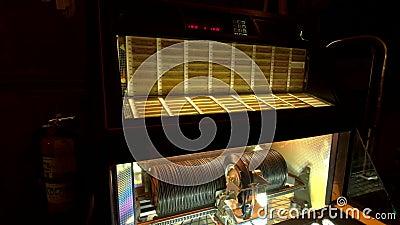 Working retro vinyl jukebox at Green Mill jazz cafe  Nostalgic, play
