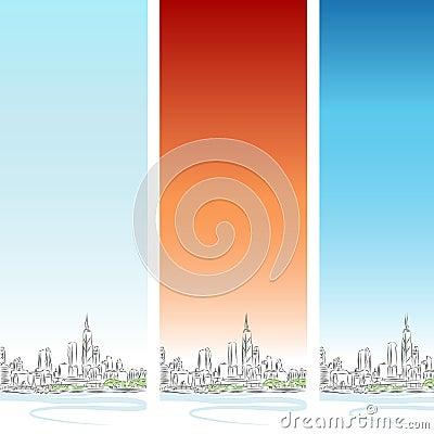 Chicago Vertical Banner Set