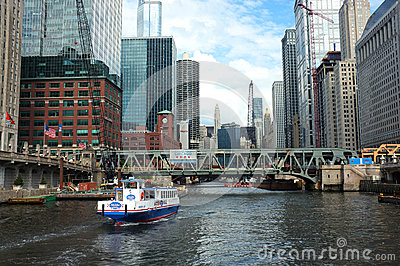 Chicago water taxi Editorial Photography