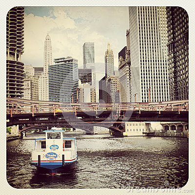 Chicago water taxi Editorial Stock Image
