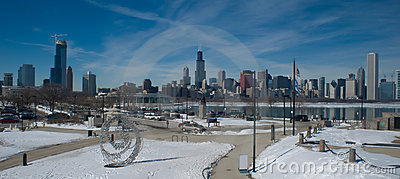 Chicago Winter (panoramic)