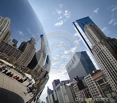 Chicagos Cloud Gate Editorial Stock Image